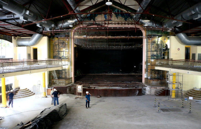 Espera-se entregar o teatro em seu aniversário de 105 anos. Foto: Gabriel Melo / Esp. DP- LOCAL