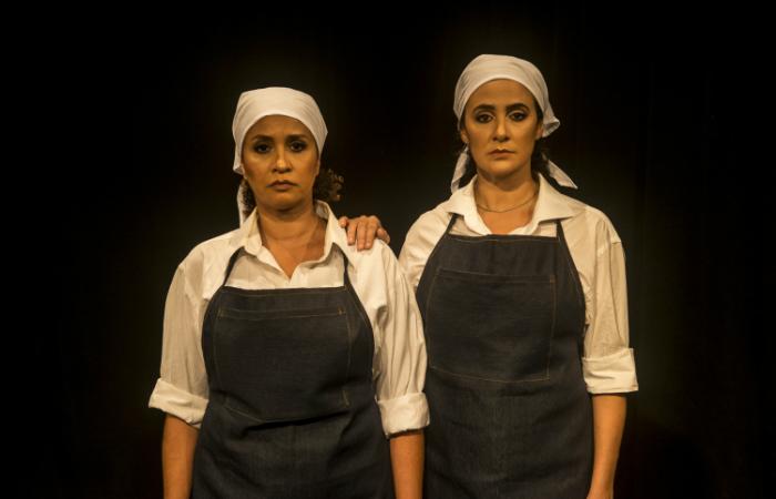Peça Triz, interpretada por Nínive Caldas e Laís Vieira. Foto: Rogerio Alves/Divulgação
