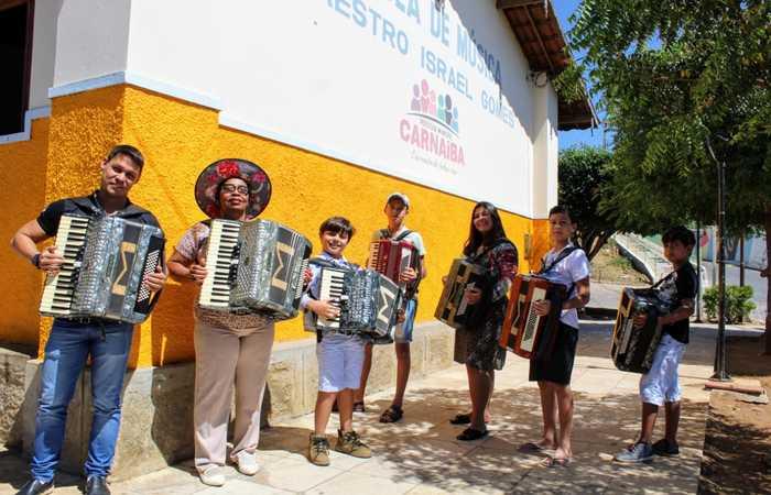 Escola de Música Maestro Ismael Gomes é referência no estado formando músicos para as bandas nordestinas. Foto: Divulgação