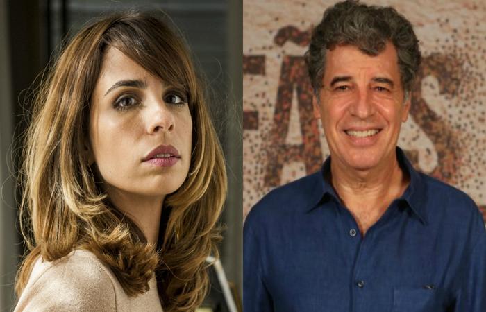 A atriz Maria Ribeiro e seu ex-marido, o ator Paulo Betti - Créditos: Divulgação/Globo.
