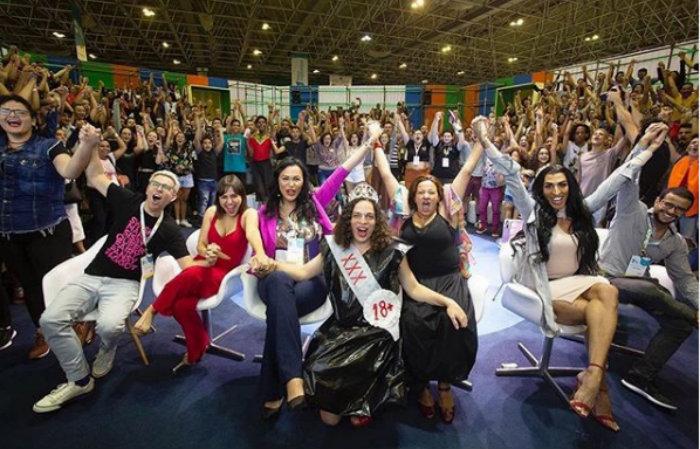 Livro da escritora Nana Queiroz sobre vida da travesti Luísa Marilac era uma das obras expostas no evento. Foto: Instagram/Reprodução