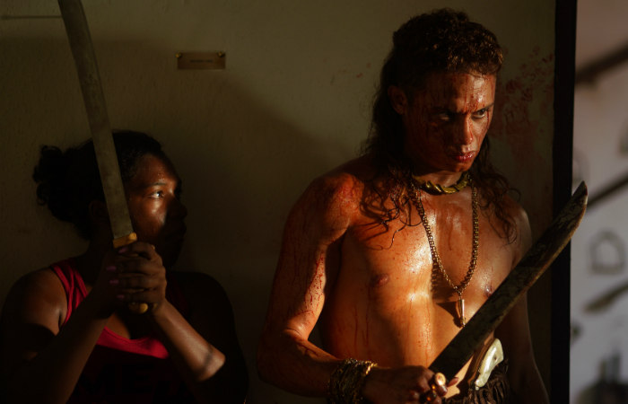 Silvero Pereira como Lunga, em Bacurau. Foto: Victor Jucá/Divulgação