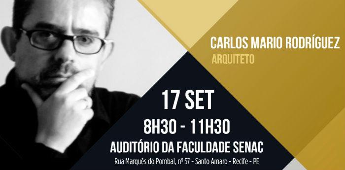 Arquiteto e ex-gerente da Empresa de Desenvolvimento Urbano de Medellín, Carlos Mario Rodríguez, estará pela primeira vez em Pernambuco.