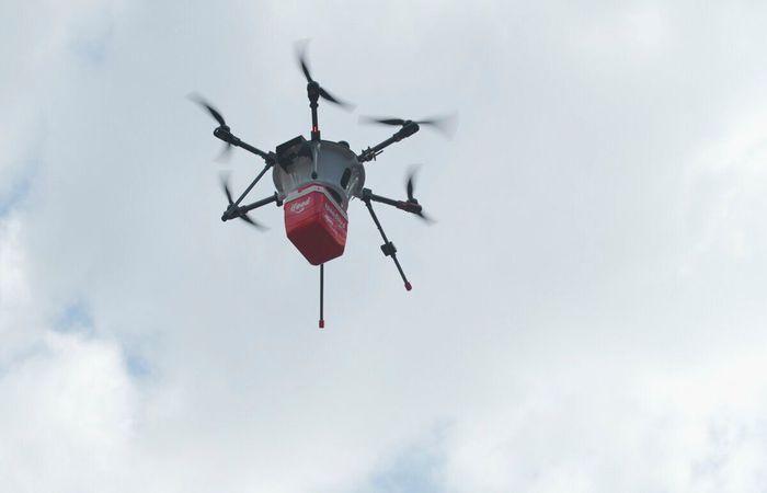 O projeto é fruto de uma parceria com a empresa Speedbird Aero e pretende agilizar o processo de entrega - Créditos: Divulgação.
