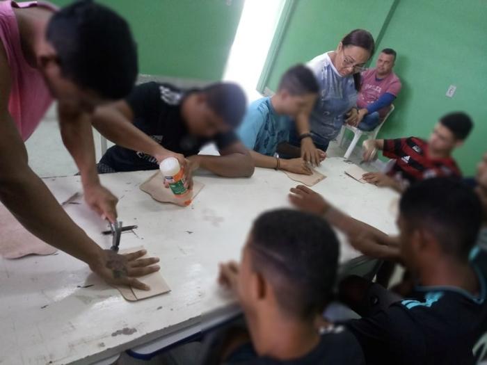 Curso é ministrado para os reeducandos da unidade. Foto: Funase/Divulgação