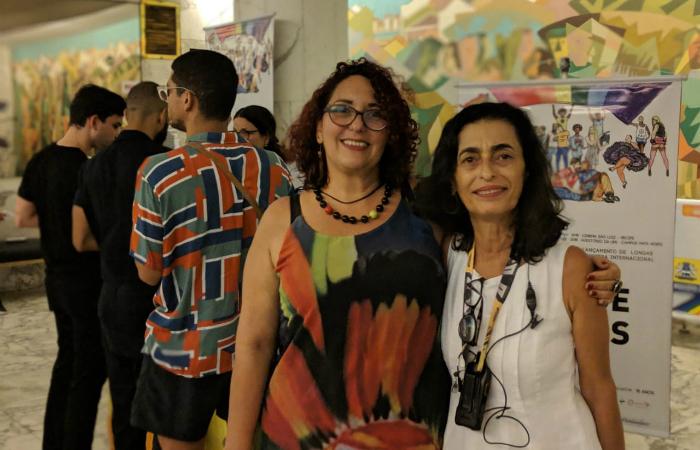 Carla Francine e Rosinha Assis no Recifest de 2018. Foto: Recifest/Divulgação