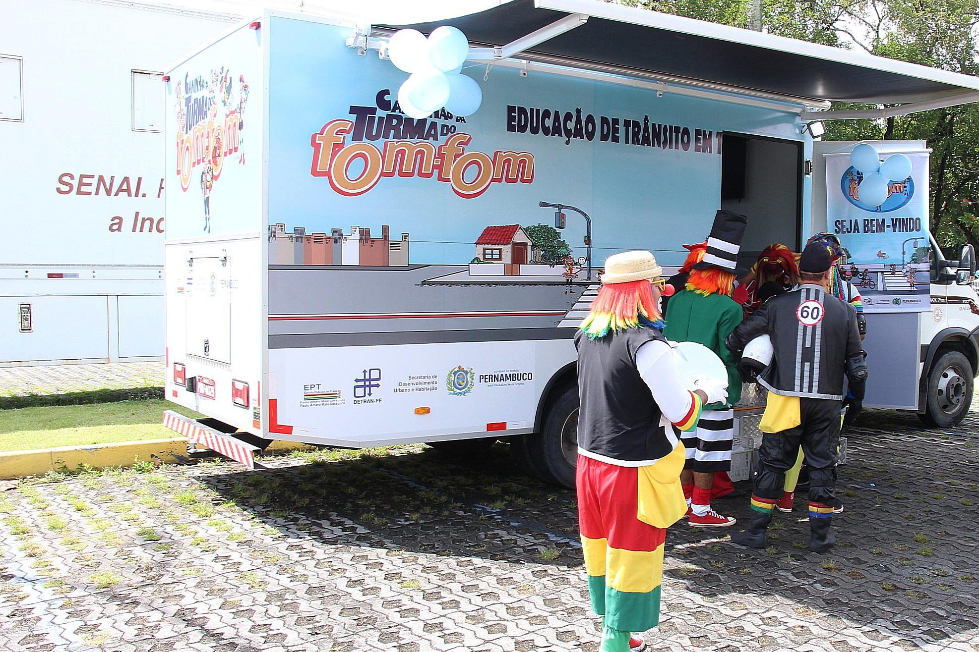 Caminhão foi apresentado na abertura da Semana do Trânsito. Foto: Dentran-PE/Divulgação