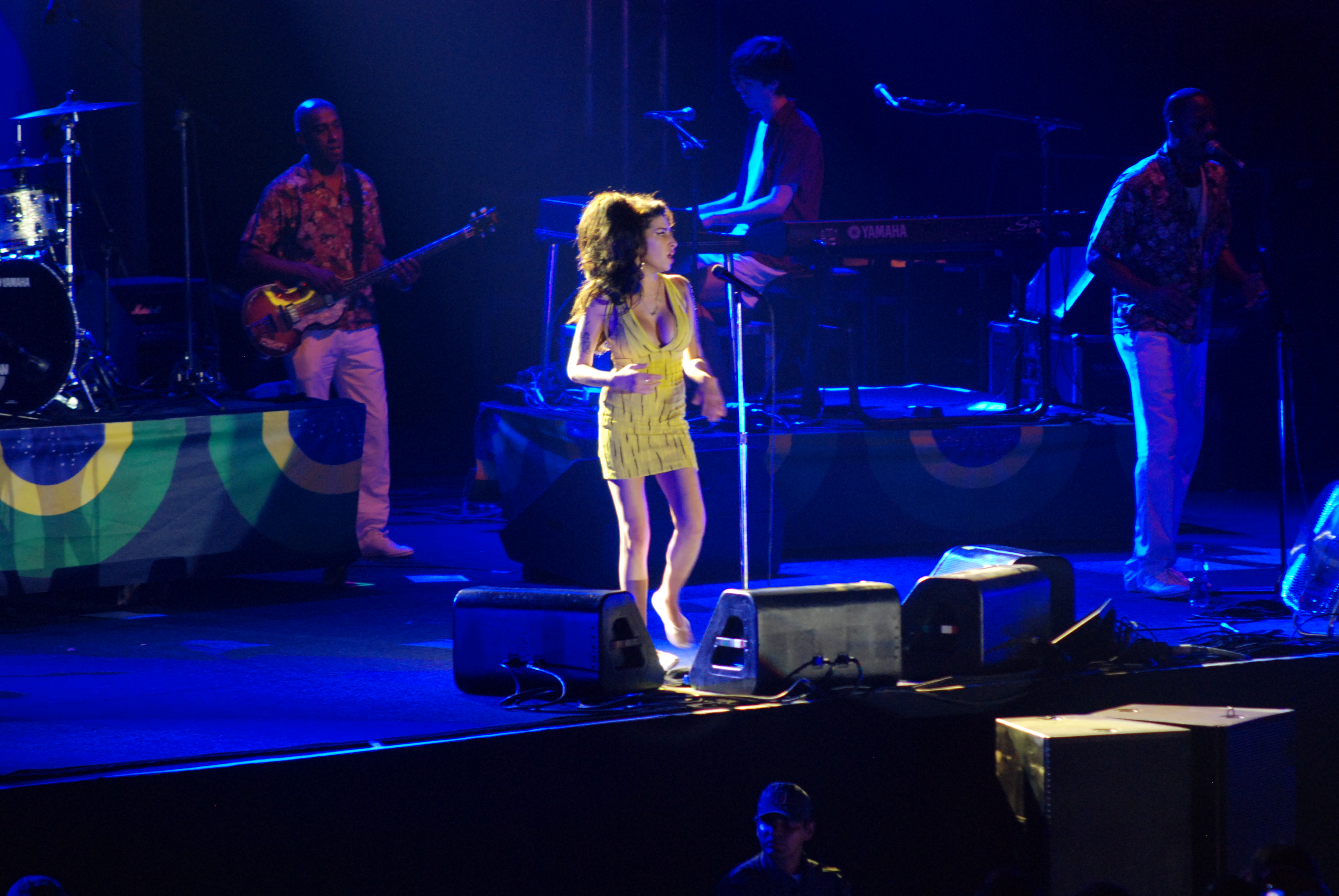 Amy Winehouse se apresentou no Recife, cinco meses antes da sua morte - Foto: Nando Chiappetta/ DP/D.A Press