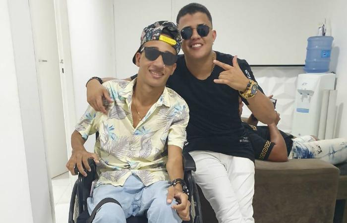 MC Vini e Danilo Bolado. Foto: Victor Ronã/Cortesia