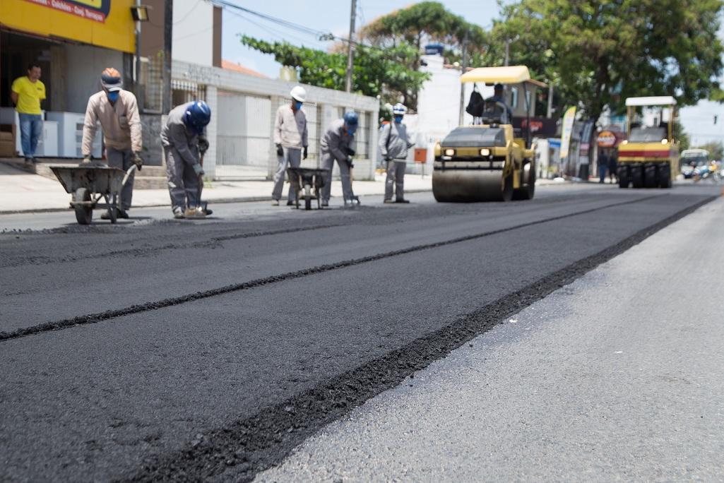 Ao todo, 4,5 km da via serão beneficiados nessa última etapa da obra. Crédito: Jonson Pereira/PMP Divulgação