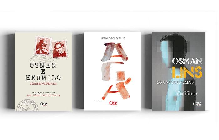 As três obras que serão lançadas na quinta-feira (26). Foto: Divulgação/Cepe