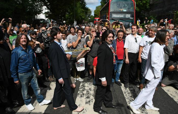 O aniversário da foto, em 8 de agosto deste ano, foi comemorado por uma multidão. Foto: Daniel Leal-Olivas/AFP