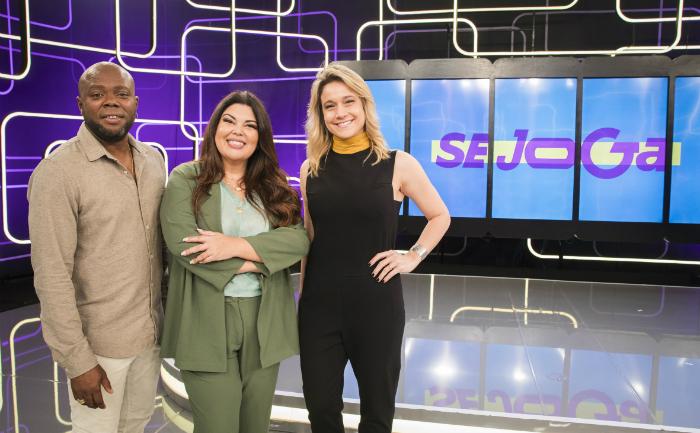 Érico Brás, Fabiana Karla, Fernanda Gentil. Foto: Victor Pollak/Divulgação