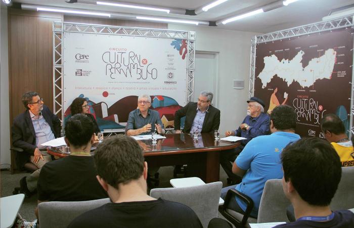 Coletiva foi realizada nesta segunda-feira. Foto: Giselle Melo/Divulgação