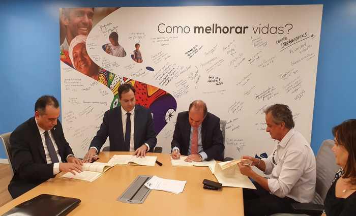 Assinatura do convênio aconteceu na representação da instituição internacional na capital federal. Foto: Eduardo Machado/SEI