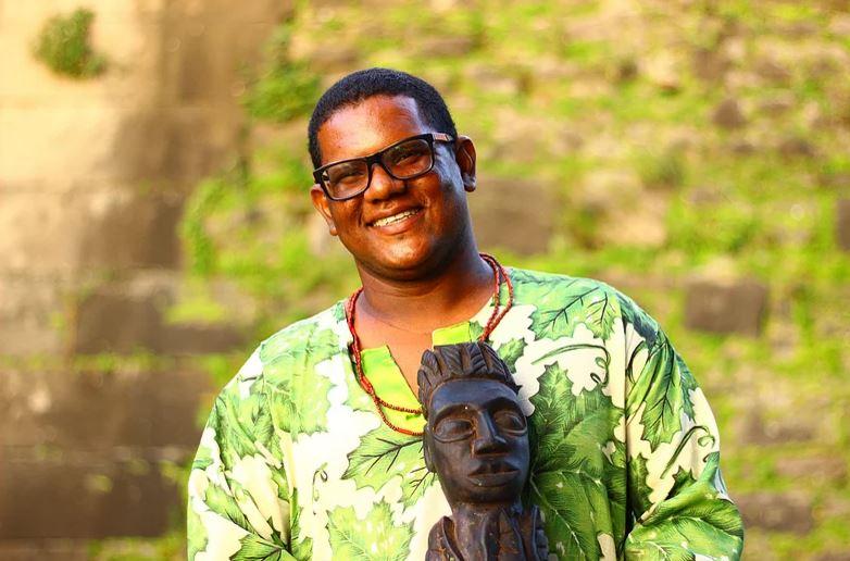Clóvis Ramos, presidente do Afoxé Obá Iroko. Foto: Samuel Calado/DP