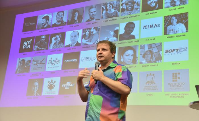 Para Pierre Lucena, o evento serve para mostrar o que é feito em Pernambuco em termos de tecnologia e inovação. Foto: Beto Oliveira/Divulgação