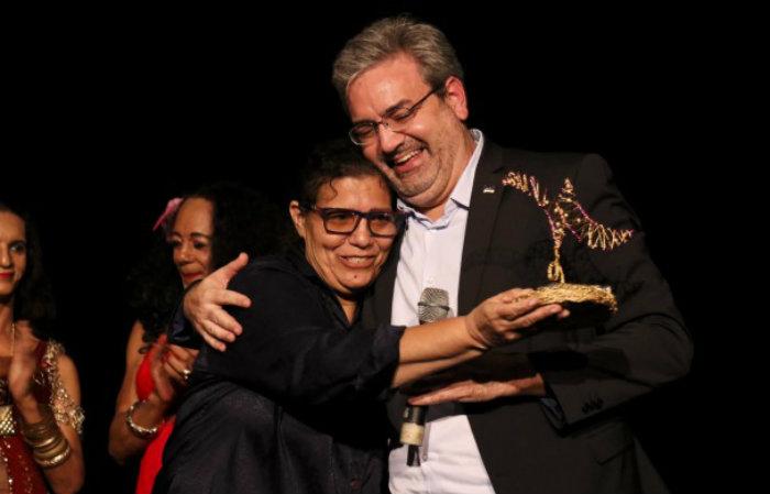 Gilberto Freyre Neto, secretário de Cultura de Pernambuco, durante o lançamento do prêmio e de abertura da I Mostra Pernambuco de Teatro. Foto: Fernando Figueiroa/Secult-PE