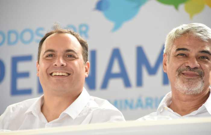Humberto acompanhou Paulo Câmara no Seminário Todos por Pernambuco. FOTO: Edilson Junior/SDA