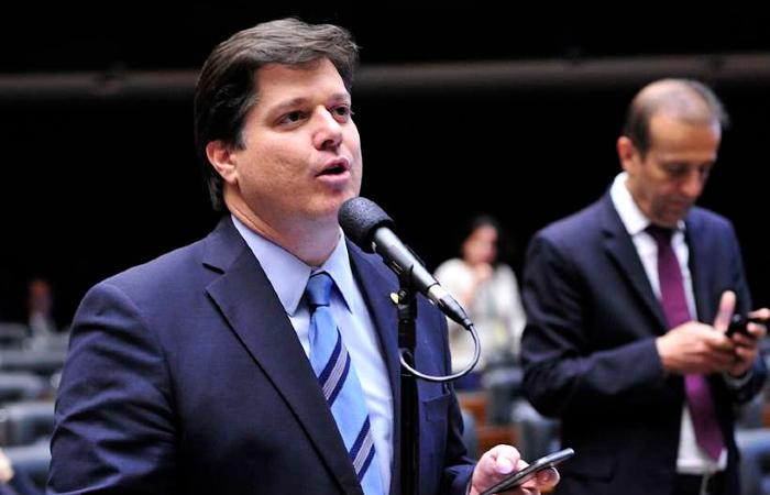 'O MDB, hoje, é o maior partido do Brasil', disse Baleia Rossi em seu discurso. Foto: Luis Macedo/Agência Câmara.