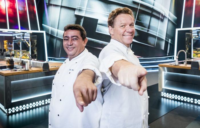 Batista e Claude Troisgros. Foto: Victor Pollak/Globo