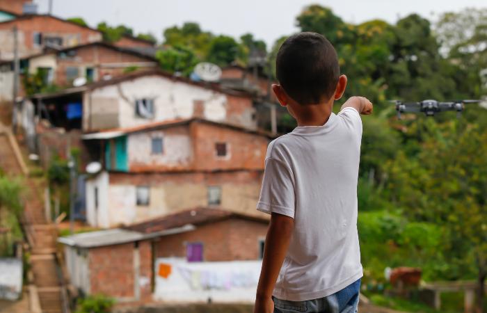 Drone é uma alternativa para monitorar áreas de risco. Foto: Leandro de Santana/Esp. DP.
