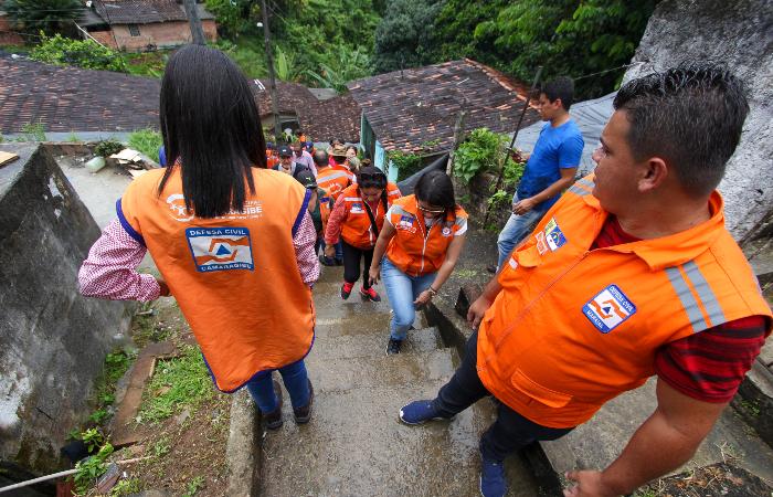 Técnicos de 23 Defesas Civis municipais participaram da capacitação. Foto: Leandro de Santana/Esp. DP.
