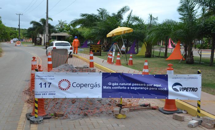 Obra será realizada em duas fases e devem ser concluídas até o primeiro semestre do próximo ano. Foto: Copergás/Divulgação