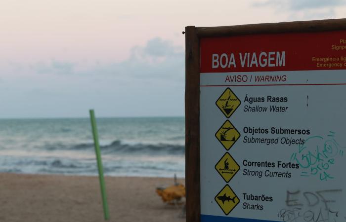 Susto na Praia de Boa Viagem foi o terceiro afogamento, em menos de uma semana, no estado. Foto: Bruna Costa/Esp. DP.