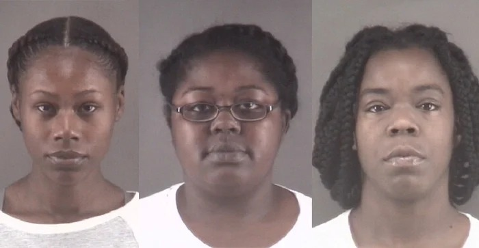 A partir da esquerda: Tonacia Yvonne Tyson, Taneshia Deshawn Jordan e Marilyn Latish McKey - Foto: Winston Salem Police Department.