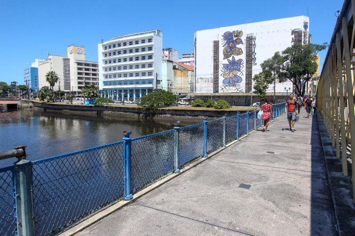 A história da Ponte da Boa Vista remete à época de expansão urbanística do Recife durante o domínio holandês. Foto: Leandro de Santana/Esp.DP.