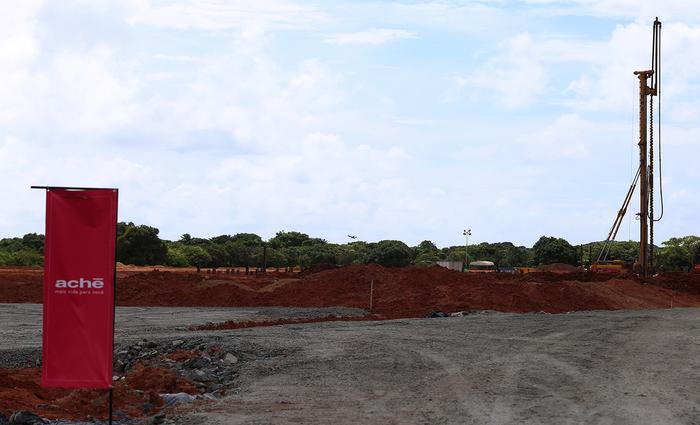 Primeira fase da fábrica da Achè foi inaugurada no início deste mês. Foto: Helia Scheppa/SEI/Divulgacao
