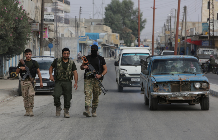 De acordo com o vice-presidente do EUA, Mike Pence, durante esse período a milícia YPG deve se retirar da área. Em tese, a operação turca termina assim que a retirada estiver completa - Foto: Bakr ALKASEM / AFP.