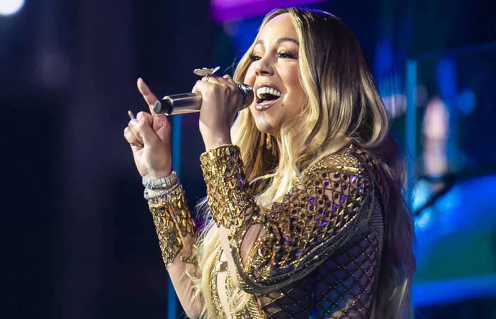 O vestido de Mariah foi desenhado pelo estilista filipino Johnny Wujek, que é radicado nos Emirados (Foto: Divulgação. )