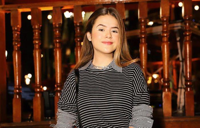 Maisa é embaixadora da Pantene e foi ao Mais Você divulgar um produto da marca. (Foto: Reprodução/Instagram)