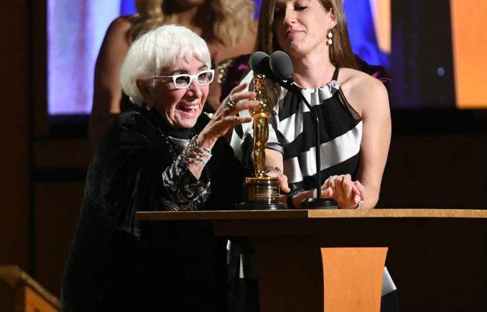 Lina Wertmuller, recebeu o Oscar honorário depois de ter sido a primeira mulher indicada na categoria de direção. Foto: Kevin Winter/ Getty Images North America/ AFP