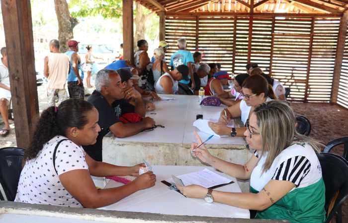Cadastramento dos pescadores do Cabo de Santo Agostinho é uma iniciativa do município para ajuda com recursos próprios. Crédito PMCS/Divulgação