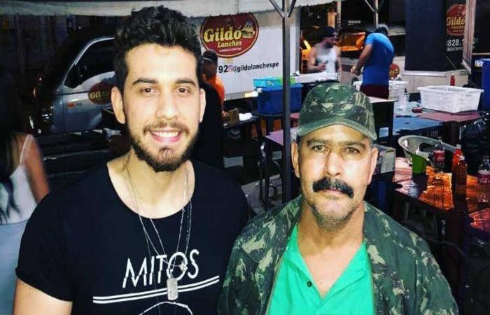 O cantor Gustavo Mioto e Gildo Lanches. (Foto: Instagram/Reprodução)