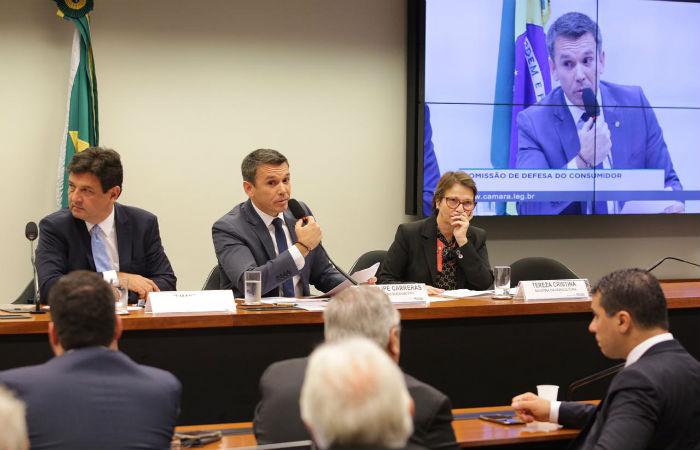 Deputado Felipe Carreras (PSB) apresentou os dados aos Ministros da Saúde e Agricultura em audiência pública. Foto: