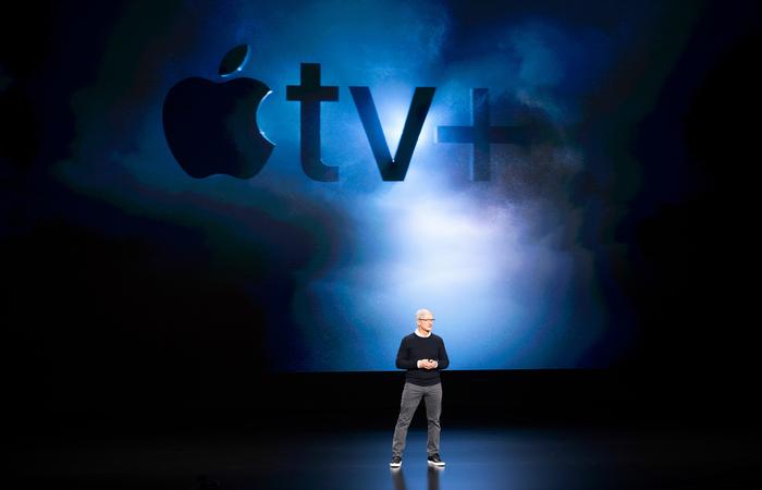 Guerra dos serviços de TV por assinatura on demand foi aberta pelo CEO da Apple, Tim Cook (NOAH BERGER / AFP)