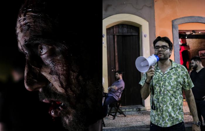 Adriano Portela (à direita), diretor de Recife Assombrado. (Foto: Diego Herculano/Divulgação)