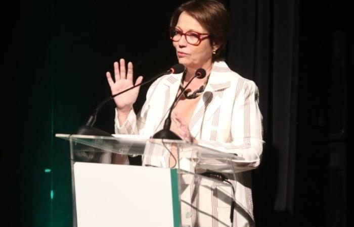 """%u201CA comunicação como norte será um grande ganho da associação"""", afirmou a ministra Tereza Cristina (CropLife/Divulgação)"""