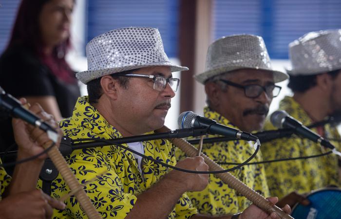 Músicos do Cavalo Marinho Estrela de Ouro. Foto: Samuel Calado/DP