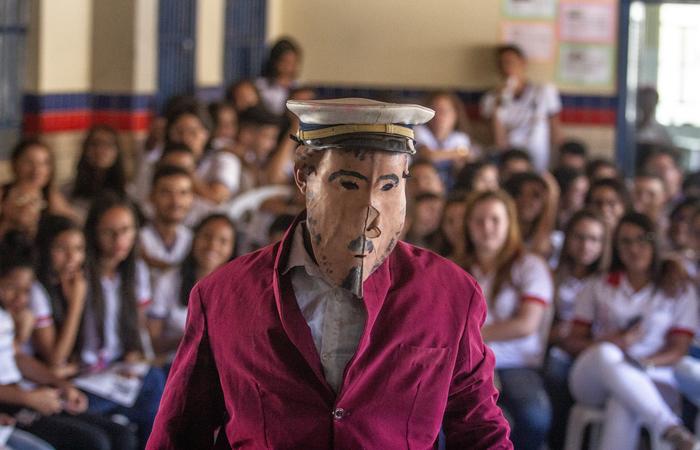 Interação na Escola Cornélio Soares, em Serra Talhada. Foto: Samuel Calado/DP