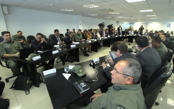 Reunião do Programa Pacto Pela Vida. (Foto: Peu Ricardo/DP.)