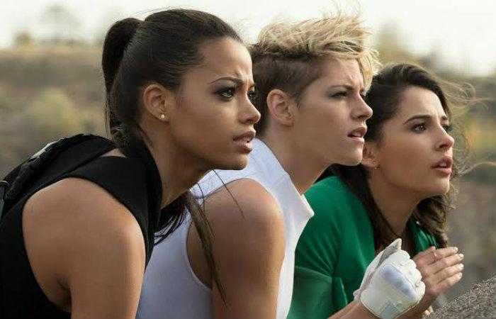 (Kristen Stewart, Ella Balinska e Naomi Scott são as novas Panteras. Foto: Sony Pictures/Divulgação)