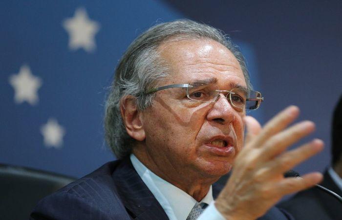 Guedes afirmou no seminário do Novo Banco de Desenvolvimento do Brics que o Brasil já estava em negociação para criar uma área de livre-comércio. (Foto: Fabio Rodrigues Pozzebom/Agência Brasil)