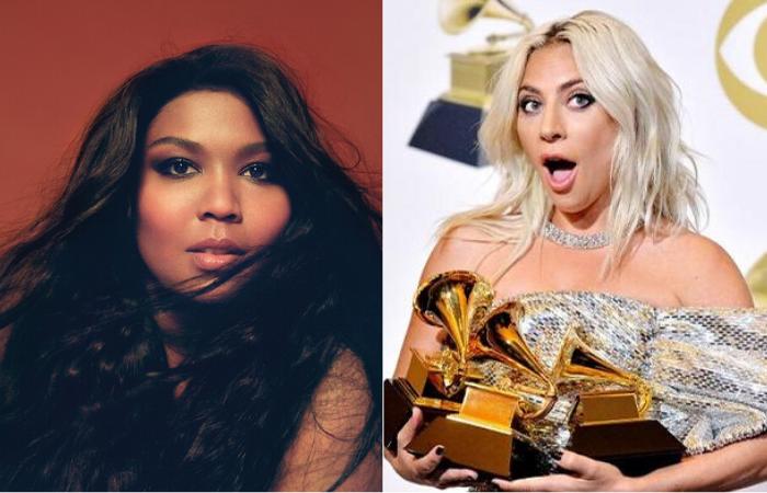 Lizzo aparece com 8 indicações. Nomeações de Lady Gaga aumentaram em 3.  (Fotos: Divulgação )