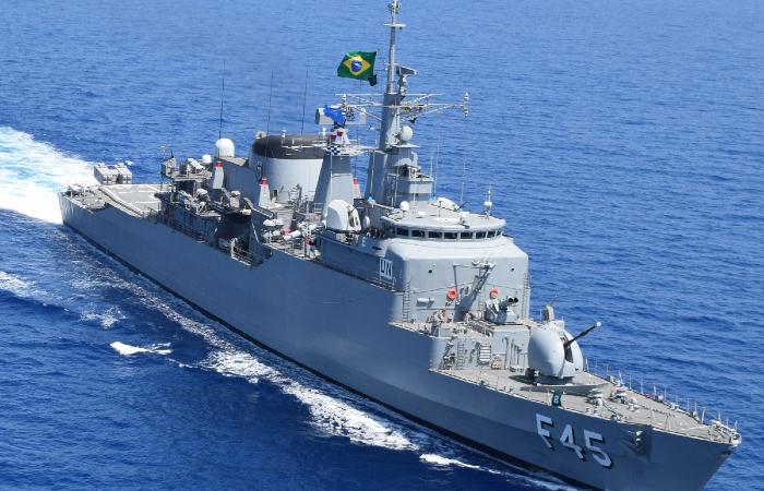Um dos navios abertos à visitação é a fragata União. (Foto: Divulgação/Marinha do Brasil.)