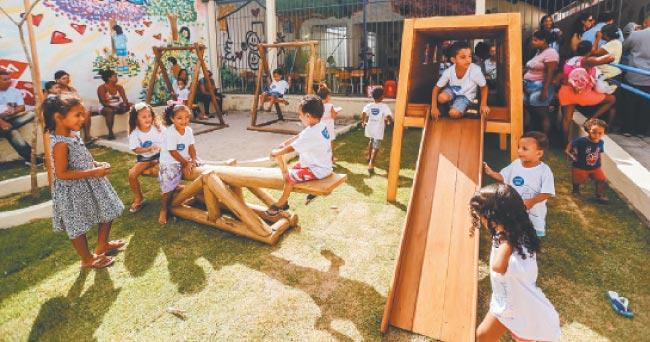 Encontros: As crianças aprendem e se divertem intensificando as relações interpessoais (André Rego Barros/PCR)